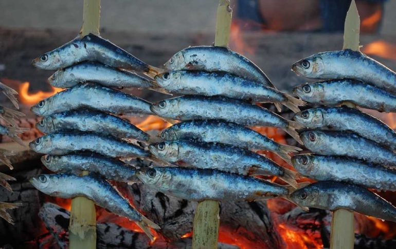 Espeto de sardinas. Receta de Málaga
