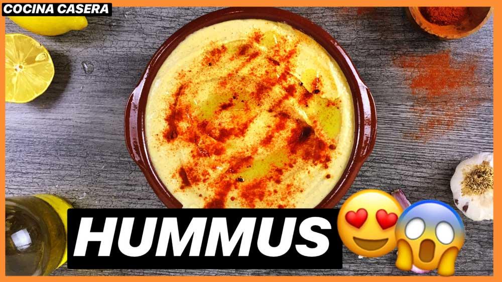 Hummus casero. Receta saludable