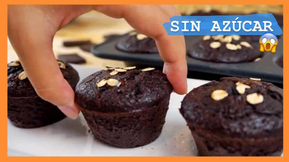 Magdalenas de Chocolate Sin Azúcar Saludables
