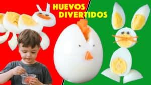 Recetas para Niños con Huevo Duro ¡SANAS y DIVERTIDAS!