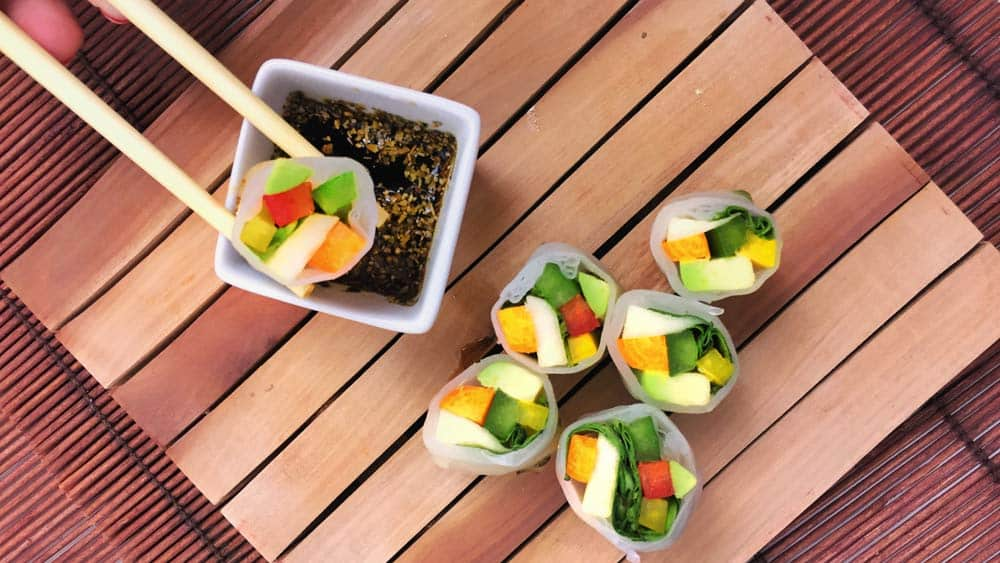 Rollitos Vietnamitas de Verduras y Veganos