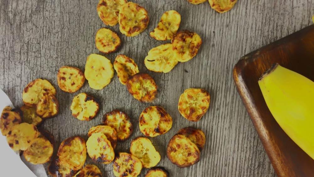 Snack de Chips de Plátano al Horno