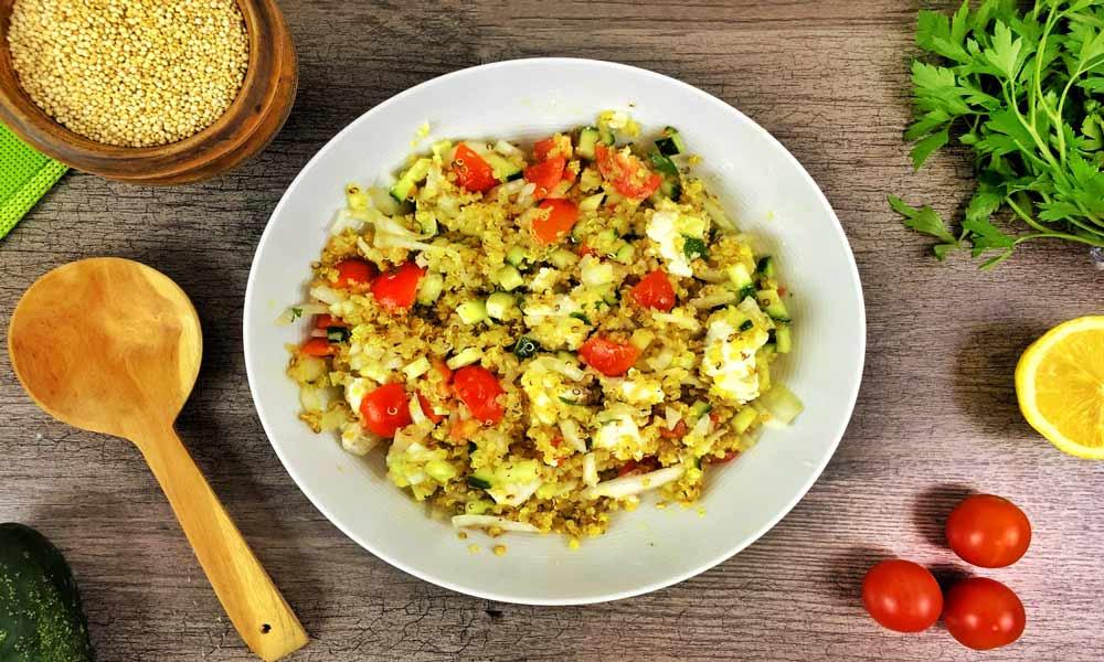 Tabule de Quinoa, Pepino y Verduras