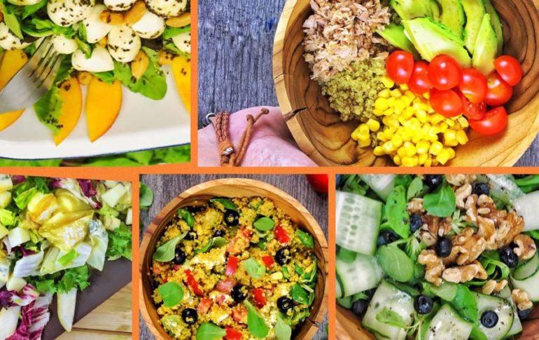 7 Ensaladas de Frutas y Verduras ¡ligeras y deliciosas!