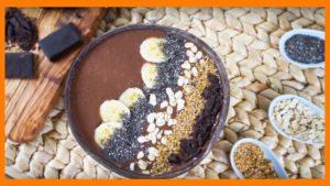 Bowl de Smoothie de Plátano y Chocolate