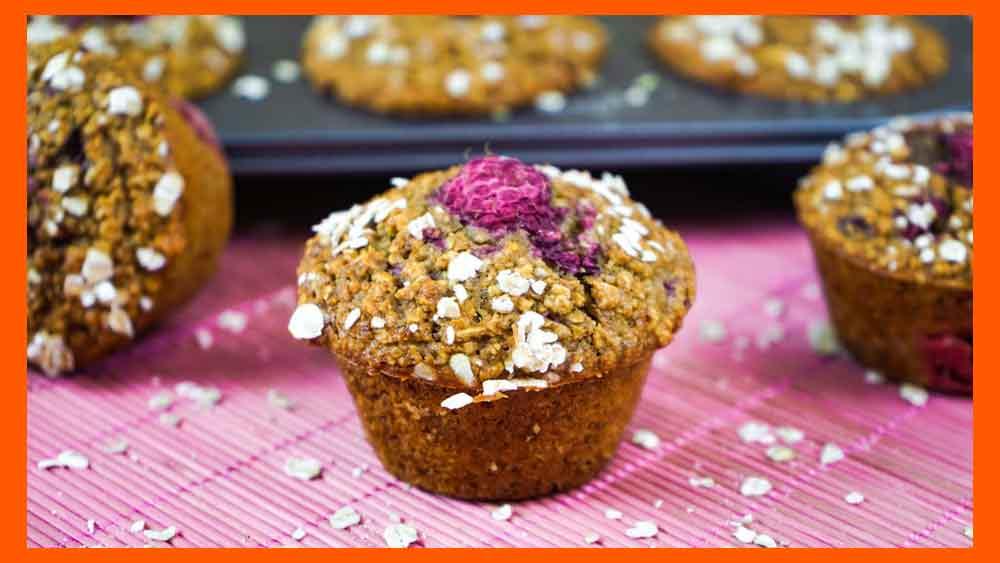 Magdalenas o Muffins Saludables de Frambuesas