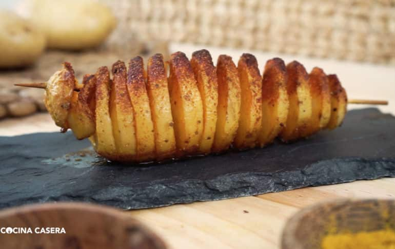Patatas en Espiral o papas Tornado al Horno