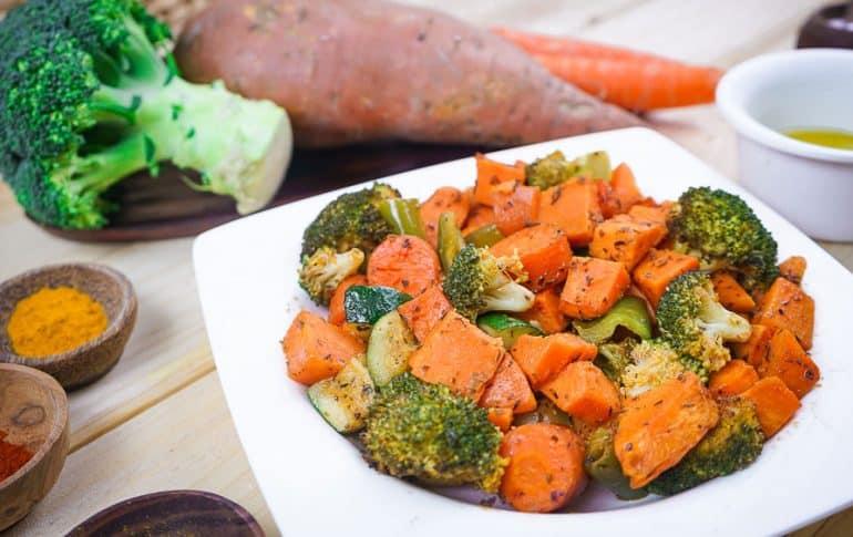 Batata con Verduras al Horno