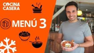 MENÚ SEMANAL SALUDABLE 3 de Enero e Invierno - Cocina Casera