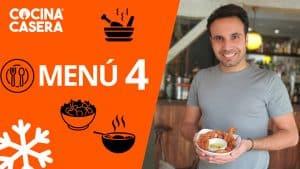 MENÚ SEMANAL SALUDABLE 4 de Enero e Invierno - Cocina Casera