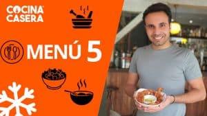 MENÚ SEMANAL SALUDABLE 5 de Enero e Invierno - Cocina Casera