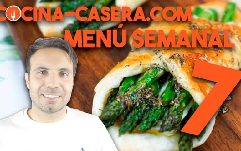 MENÚ SEMANAL SALUDABLE 7 de Febrero e Invierno | Menú de Cocina Casera
