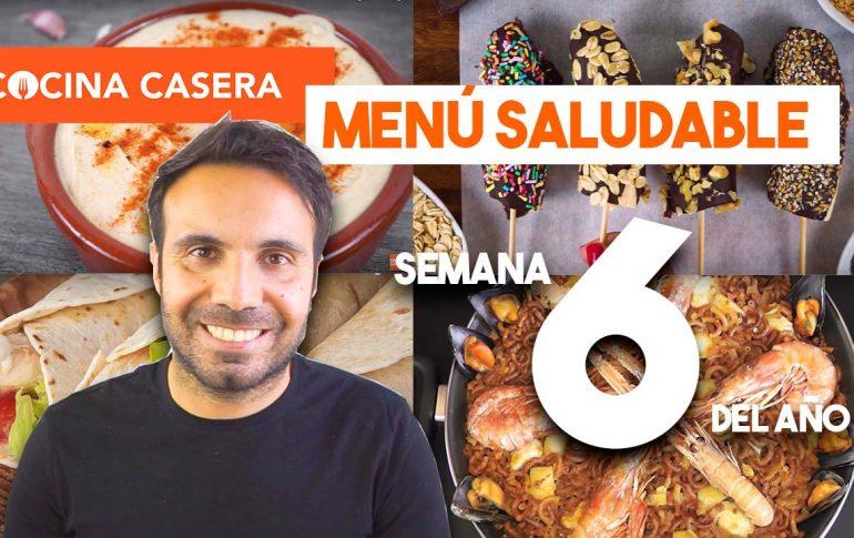 Menú Semanal Saludable 6 del Año | Invierno - Cocina Casera