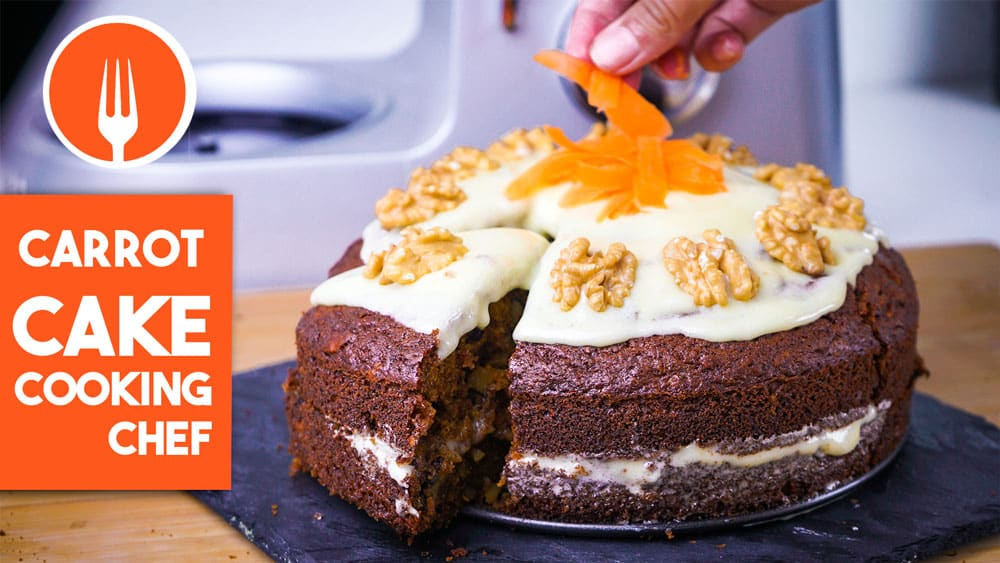 Carrot Cake (Tarta de Zanahoria) con Cooking Chef