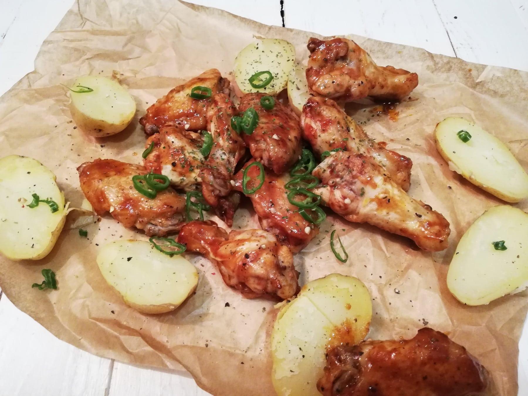 Hot Wings o Alitas de Pollo con Salsa Picante
