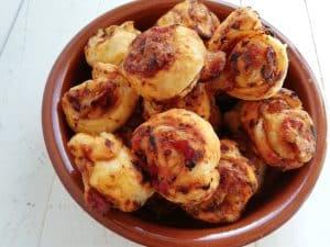 Pizzacolas de Jamón y Queso