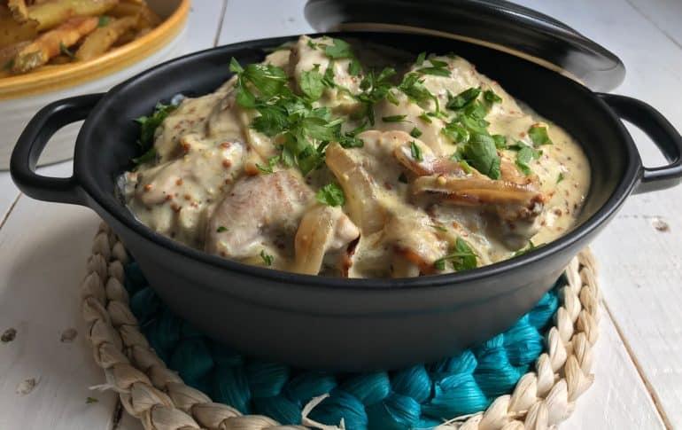 Pollo a la mostaza. Receta ligera y saludable