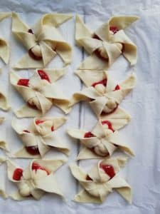 Molinillos de crema y fresa