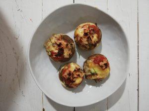 Champiñones con queso raclette