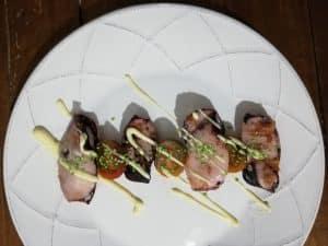 Chipirones con mayonesa de wasabi