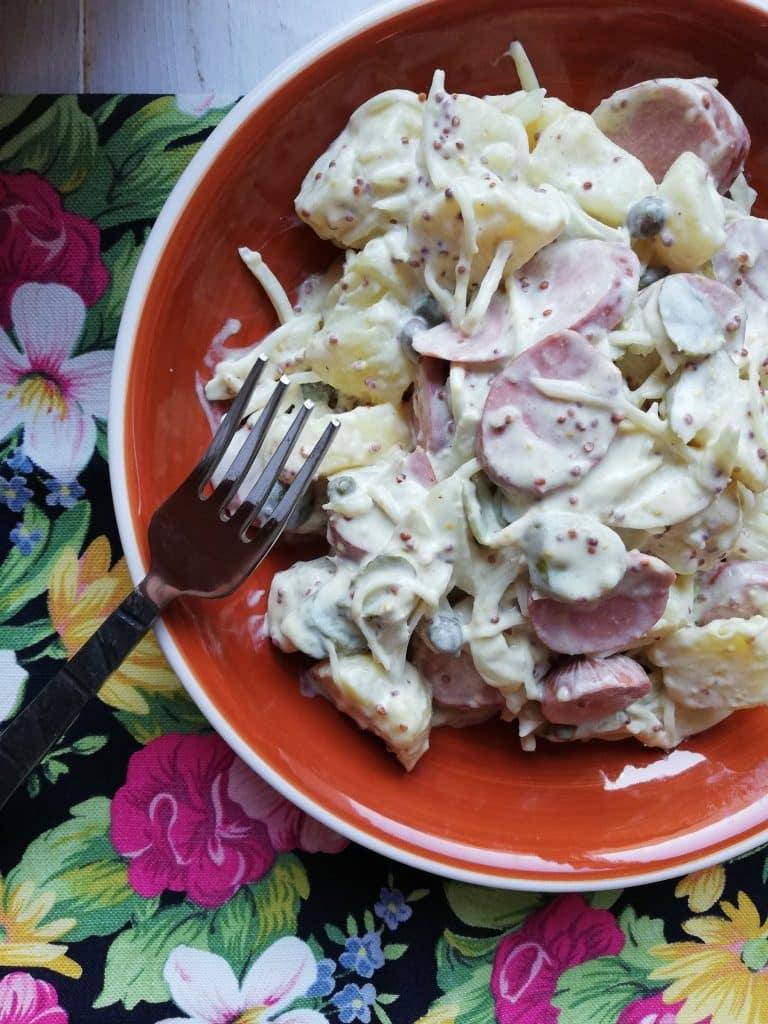 Kartoffelsalat o Ensalada de Patatas alemana