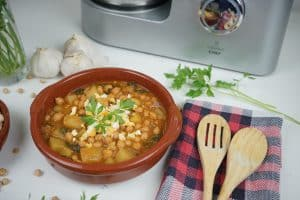 Potaje de garbanzos con Cooking Chef