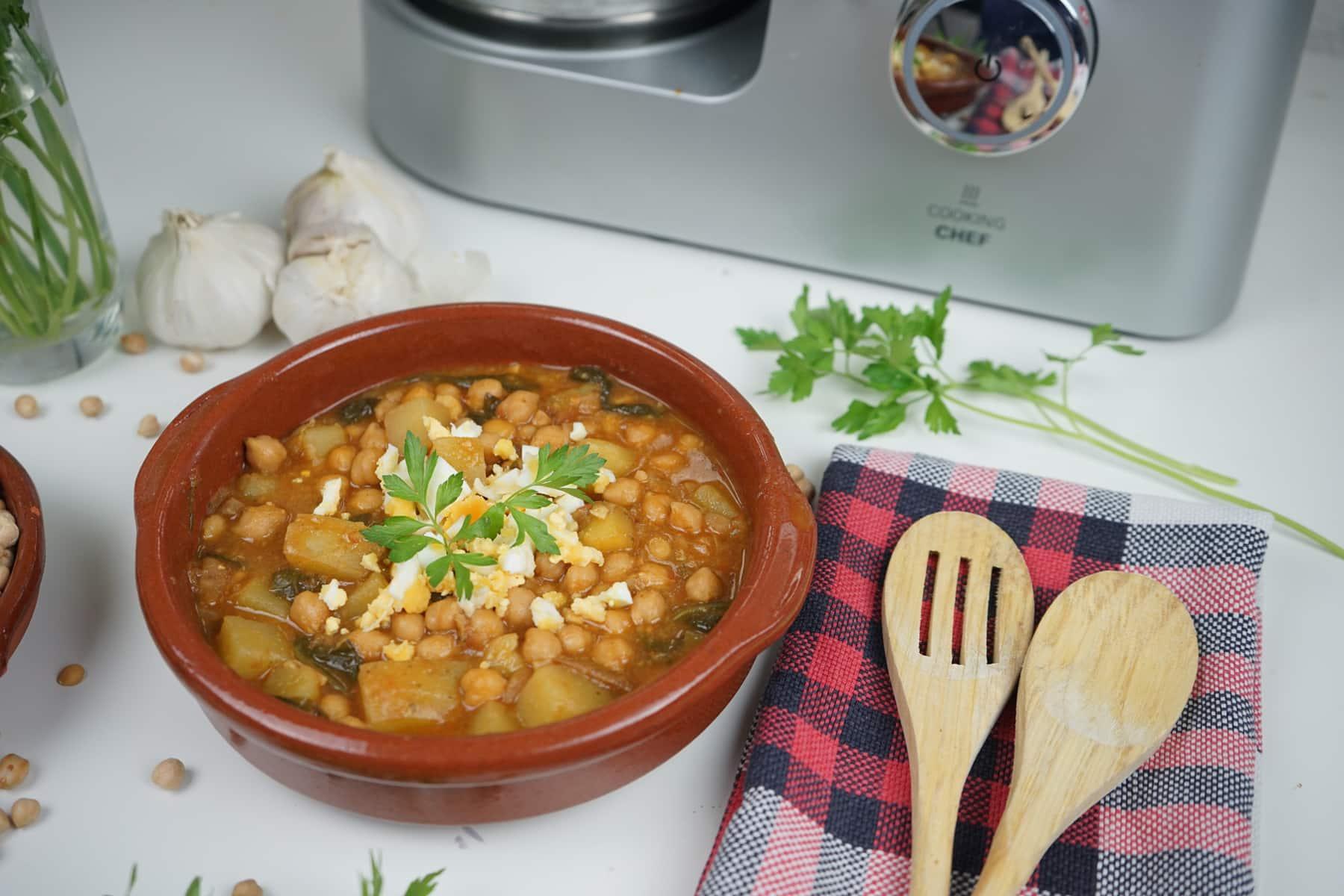 Potaje de garbanzos con Cooking Chef