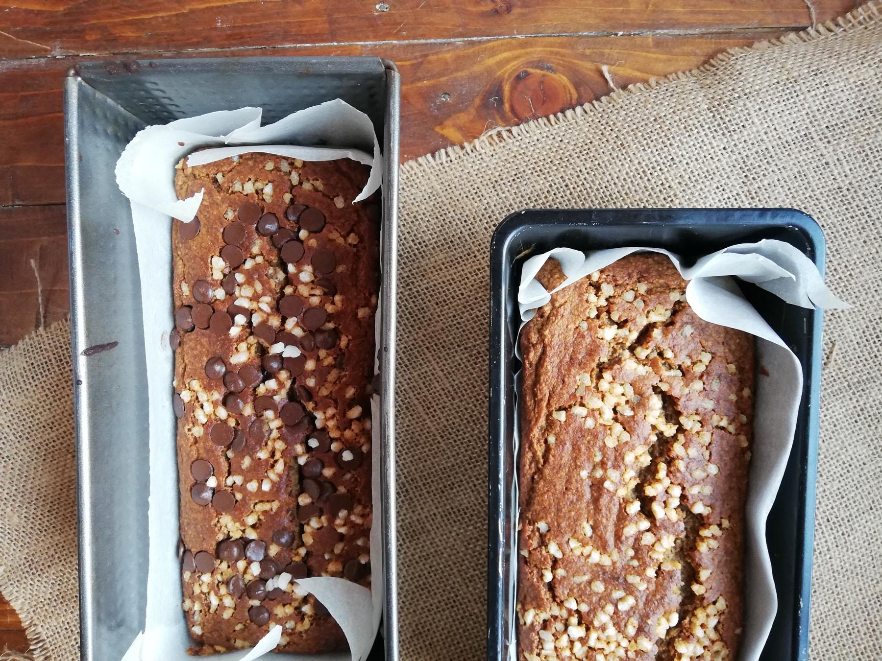 Pan de platano con pepitas de chocolate