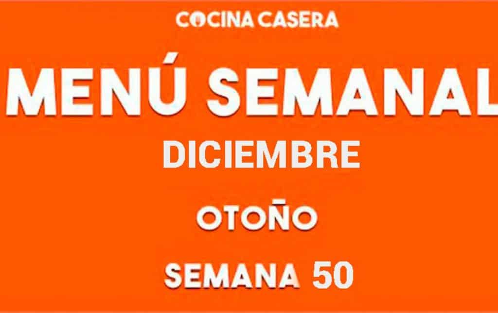 menu semanal 50 diciembre otoño