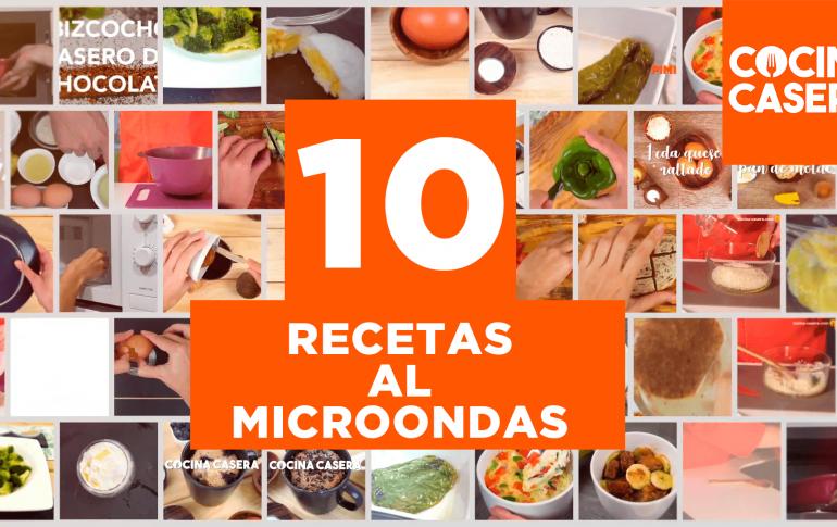 10 recetas al Microondas. Rápidas y fáciles