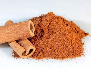 Canela como una de las especias más utilizadas en repostería