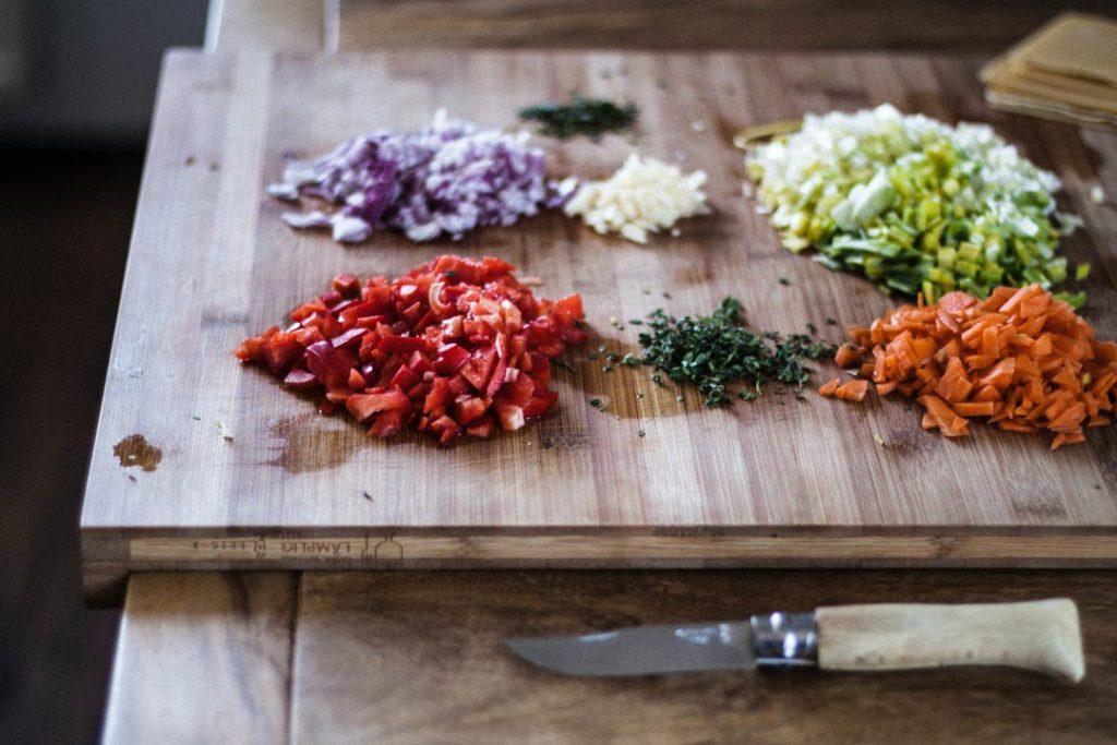 Tipos de cortes de verduras y frutas con cuchillo