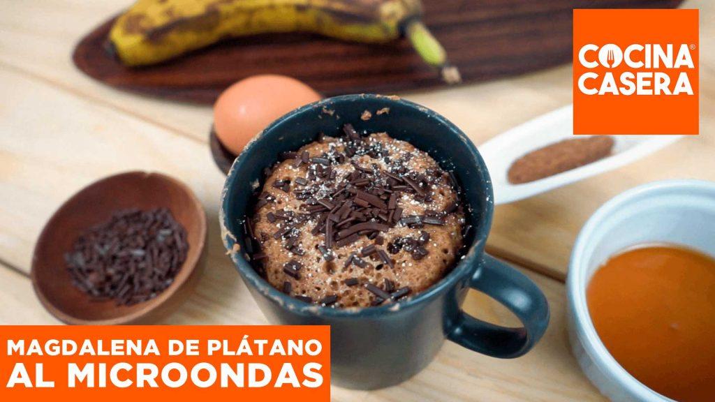 Magdalenas de plátano al Microondas