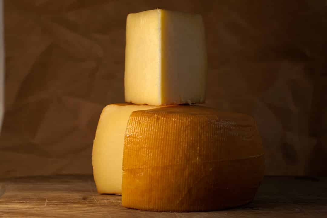 Smoked Cantabrian cheese