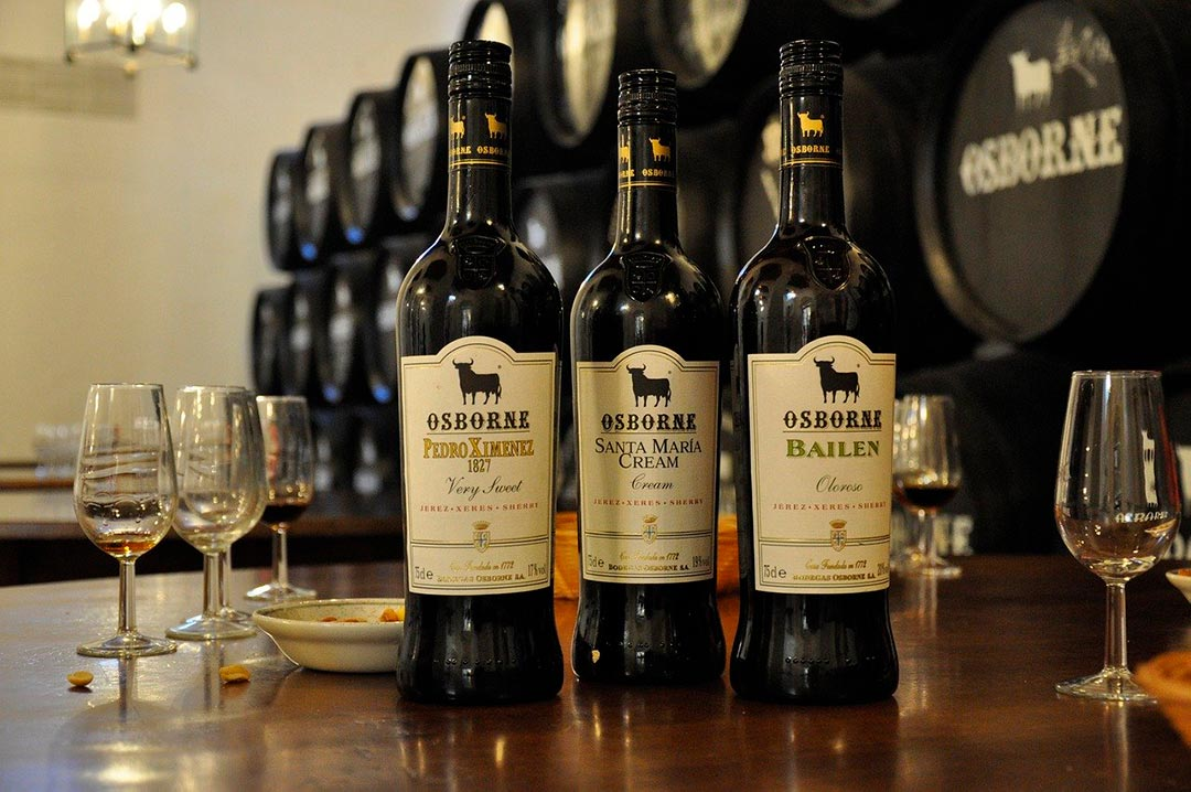 Types of sherry wines