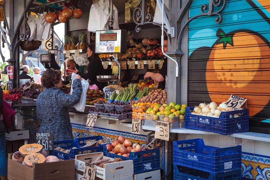 Mercado de frutas y verduras Valencia