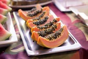 Bandeja de papaya