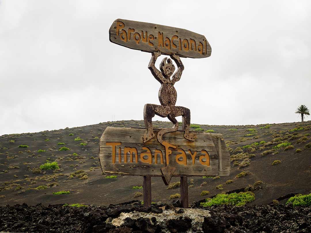 Cartel Parque Nacional del Timanfaya