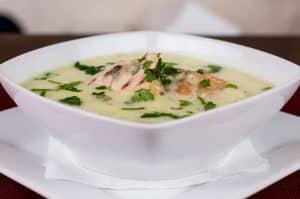 Sopa de pollo para el resfriado