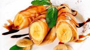 Crepes de plátano y manzana