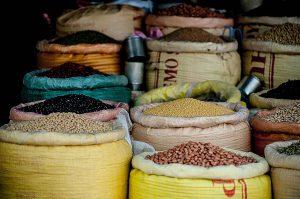 Sacos de legumbres para la compra a granel
