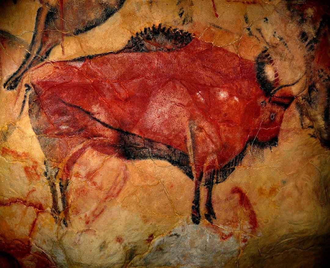 Pintura de bisonte en la Cueva de Altamira