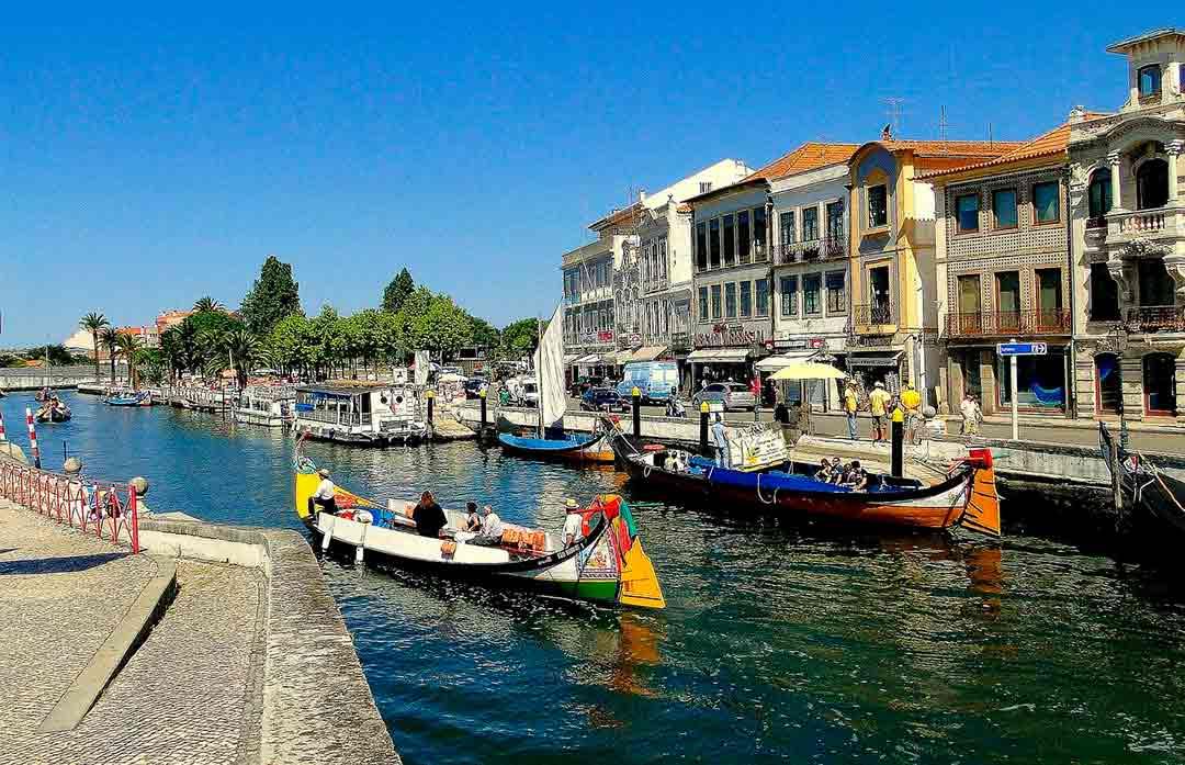 Canales de Aveiro en Portugal