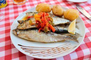 Sardinas, pescado típico de la gastronomía portuguesa