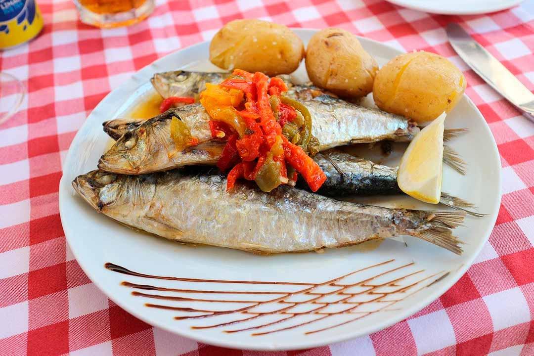 Sardinas, pescado típico de la gastronomía de Portugal