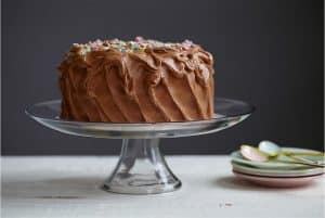 Tarta de chocolate para celebrar su día mundial el 27 de enero