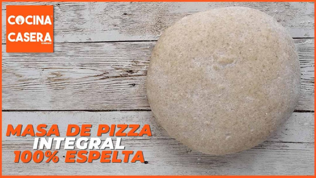 Masa de pizza integral 100% espelta