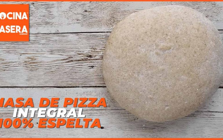 Masa de pizza integral 100% espelta