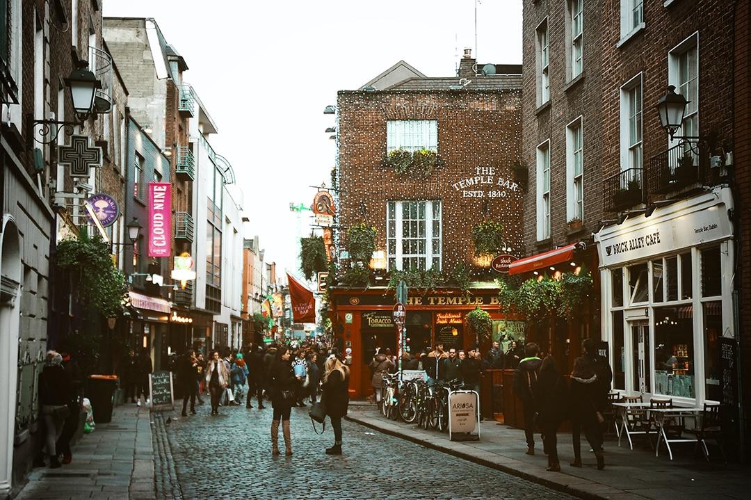 Barrio Temple Bar en Dublín
