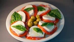 Ensalada caprese, gastronomía típica de Roma